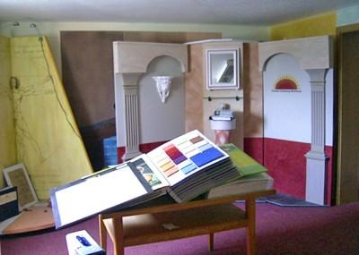 Ausstellungs- und Beratungsraum für Malerarbeiten