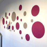 bunte Wandgestaltung für das Kinderzimmer