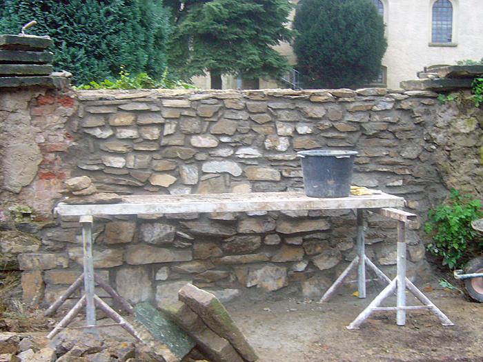 Mauerwerk aus Wildsteinen